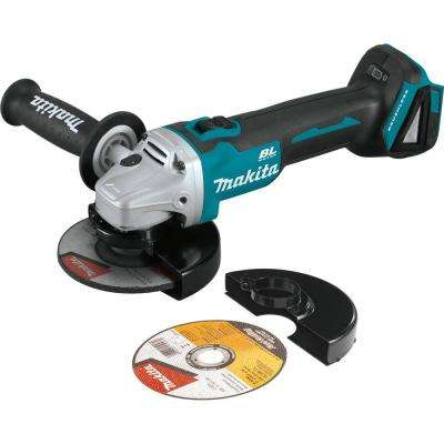 18-Volt LXT Lithium-Ion Brushless Cordless 4-1/2 / 5 in. Cut-Off/Angle Grinder with Electric Brake (Tool Only)