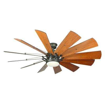 Trudeau 60 in. LED Espresso Bronze Ceiling Fan
