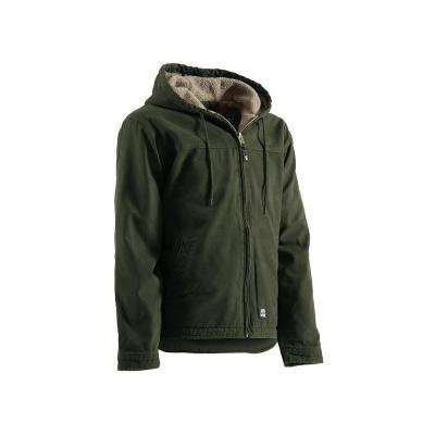 Men's 100% Cotton Washed Hooded Work Coat