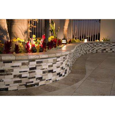 Asteria Blend 3D 12 in. x 12 in. x 10mm Polished Marble Mesh-Mounted Mosaic Tile (10 sq. ft. / case)