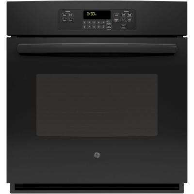 27 in. Single Electric Wall Oven Self-Cleaning with Steam in Black