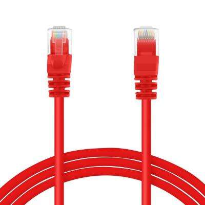 1 ft. Cat5e Snagless Ethernet Computer LAN Network Patch Cable - Red (100-Pack)