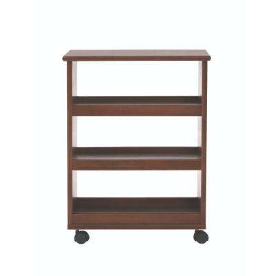 Stanton 20 in. W Multi-Function 3-Shelf Storage Cart in Dark Cherry