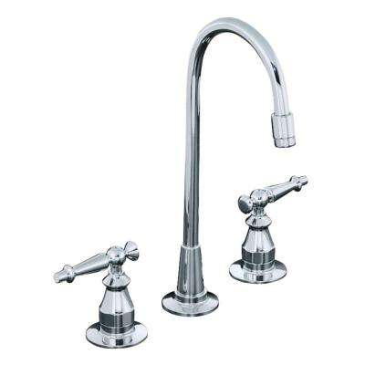 Antique 2-Handle Bar Faucet in Polished Chrome