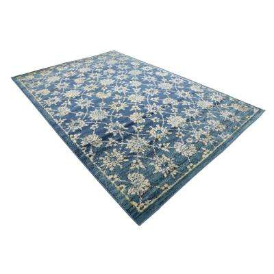 Oslo Indre By Navy Blue 6' 0 x 9' 0 Area Rug