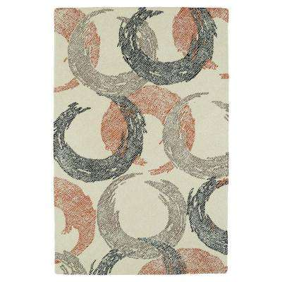Montage Ivory 3 ft. 6 in. x 5 ft. 6 in. Area Rug