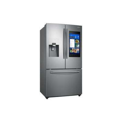 24.6 cu. ft. Family Hub French Door Smart Refrigerator in Stainless Steel