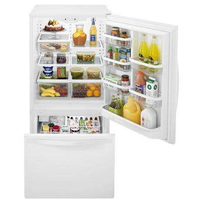 22.1 cu. ft. Bottom Freezer Refrigerator in White