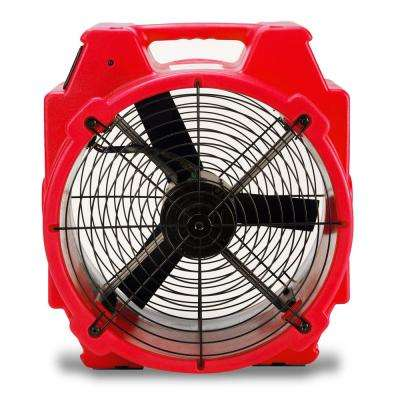 PB-25 1/4 HP 3320 CFM Polar Axial Blower Fan High Velocity Air Mover for Water Damage Restoration in Red (84-Pack)