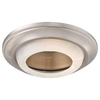 6 in. Brushed Nickel Recessed Can Trim