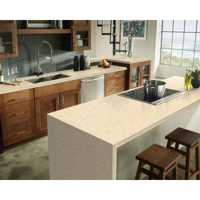 2 in. x 2 in. Solid Surface Countertop Sample in Cottage Lane