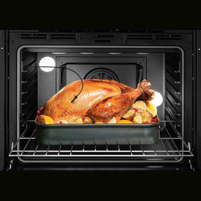 800 Series 30 in. 4.6 cu. ft. Slide-In Dual Fuel Range with Self-Cleaning Convection Oven in Stainless Steel