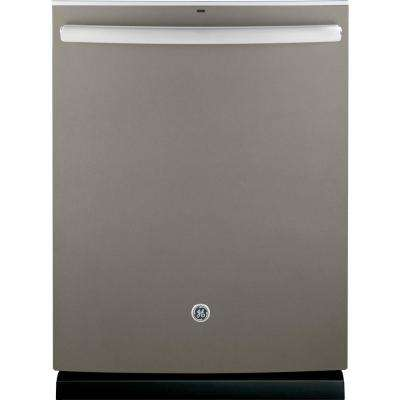 24 in. Top Control Dishwasher in Slate with Stainless Steel Tub and Steam Prewash