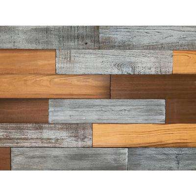 3D Barn Wood 50/50, 5/16 in. x 4 in. x 24 in. Reclaimed Wood Decorative Wall Planks in Mixed Color (10 sq. ft. / case)