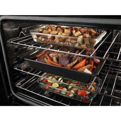 27 in. Double Electric Wall Oven with Convection in Black