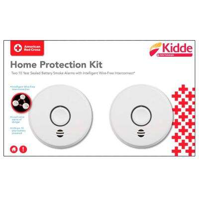 10-Year Sealed Battery Smoke Detector with Intelligent Wire-Free Voice Interconnect (4-Pack)