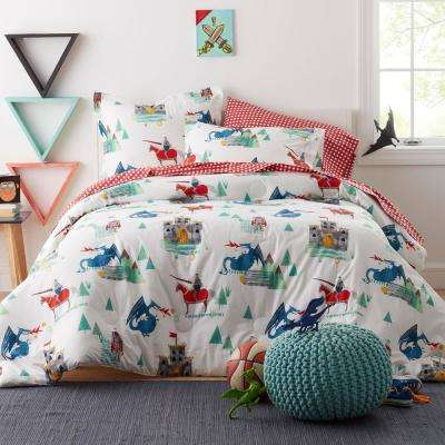 Knights and Dragons Cotton Percale Comforter