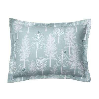 Snow Tree Flannel Sham