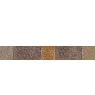 Veranda Multicolor 3-1/4 in. x 20 in. Deco A Porcelain Accent Floor and Wall Tile