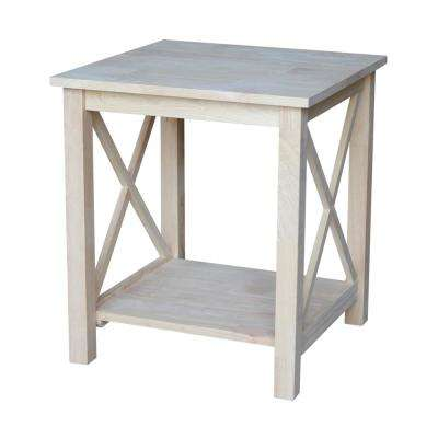 Hampton Unfinished End Table