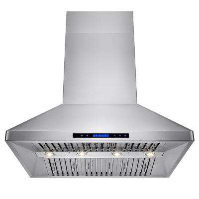 48 in. Dual Motor Kitchen Wall Mount Range Hood in Stainless Steel with Remote and Touch Control