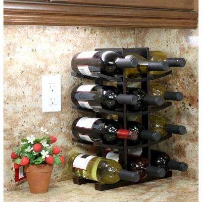12-Bottle Bamboo Countertop Wine Rack