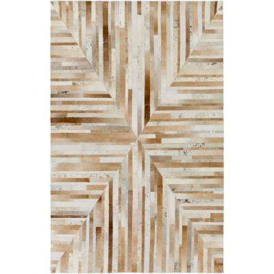 Pori Taupe 5 ft. x 8 ft. Indoor Area Rug