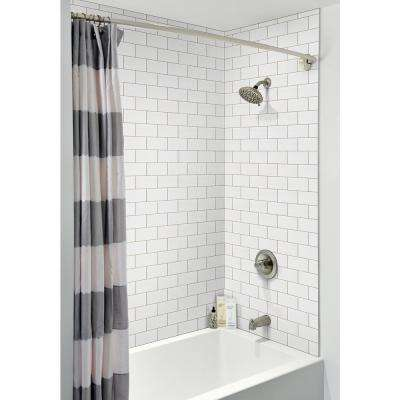 White Glossy 3 in. x 6 in. Glazed Ceramic Wall Tile (10.75 sq. ft. / case)