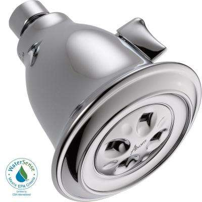 1-Spray Adjustable gpm Water-Efficient Showerhead in Chrome featuring H2Okinetic