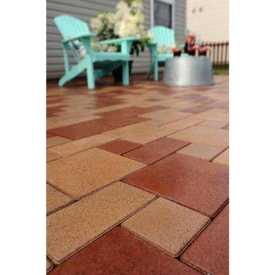 4 in. x 8 in. Redwood Composite Standard Paver Grid System (8 Pavers and 1 Grid)