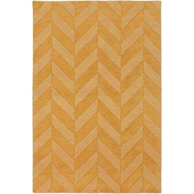 Central Park Carrie Gold 6 ft. x 9 ft. Indoor Area Rug