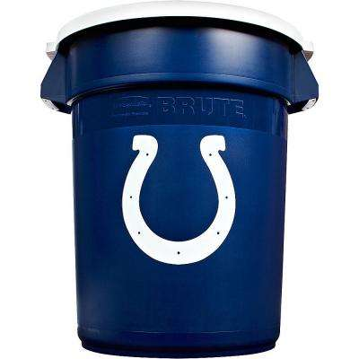 BRUTE NFL 32 Gal. Indianapolis Colts Round Trash Can with Lid