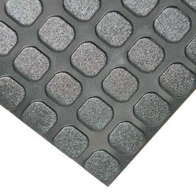 """Block-Grip"" 4 ft. x 40 ft. Black Commercial PVC Flooring"