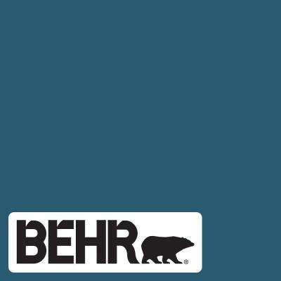 Behr Marquee 1 Gal 540d 7 Deep Blue Sea Matte Interior Paint Primer 145301 The Home Depot