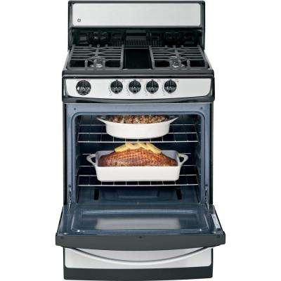 24 in. 3.0 cu. ft. Gas Range in Stainless Steel