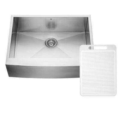 Farmhouse Apron Front Stainless Steel 30 in. Single Bowl Kitchen Sink