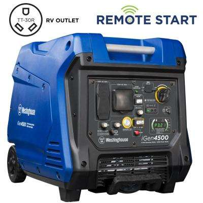 4,500/3,700-Watt Super Quiet Gas Powered Inverter Generator with LED Display, Push Button Start and Remote Start