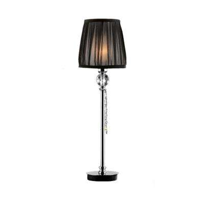 27 in. Black and Silver Eclipse Buffet Lamp