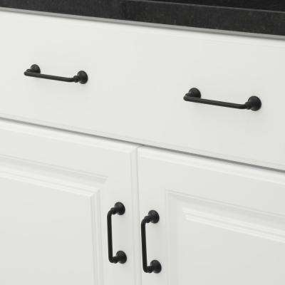 3 in. Center-to-Center Traditional Matte Black Cabinet Pull