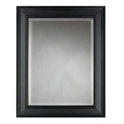 Meyer 24 in. x 30 in. Black Framed Wall Mirror