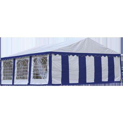 20 ft. W x 20 ft. D Enclosure Kit with Windows in White/Blue for Party Tent (Tent Sold Separately) and Fire-Rated Fabric