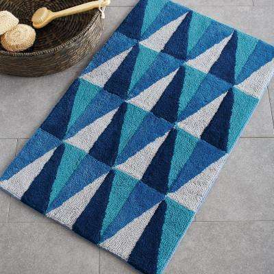 Angles Cotton Bath Rug