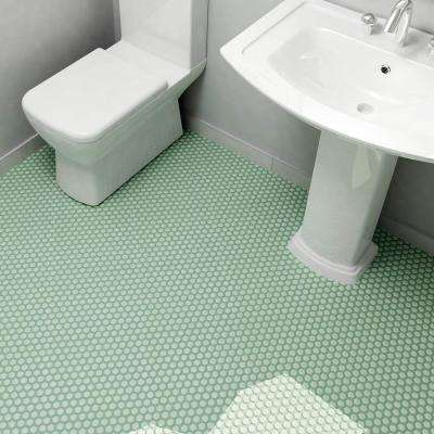 Metro Hex Matte Light Green 10-1/4 in. x 11-3/4 in. x 5 mm Porcelain Mosaic Tile (8.56 sq. ft. / case)