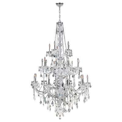 Provence 25-Light Chrome and Clear Crystal Chandelier
