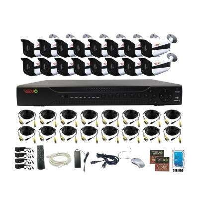 Aero HD 16-Channel 5MP 3TB Video Surveillance Security System with 16 Indoor/Outdoor Bullet Cameras
