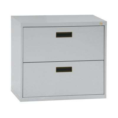 400 Series 27 in. H x 30 in. W x 18 in. D 2-Drawer Lateral File Cabinet in Dove Grey