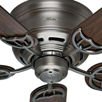 Low Profile III 52 in. Indoor Antique Pewter Ceiling Fan