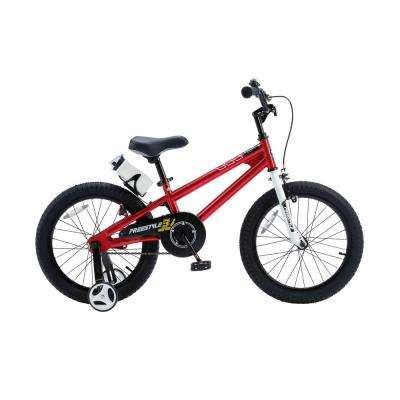18 in. Wheels Freestyle BMX Kid's Bike, Boy's Bikes and Girl's Bikes with Training Wheels in Red