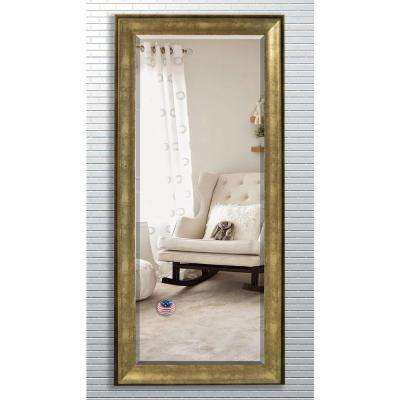 31.5 in. x 72 in. Lustrous Champagne Beveled Oversized Full Body Mirror
