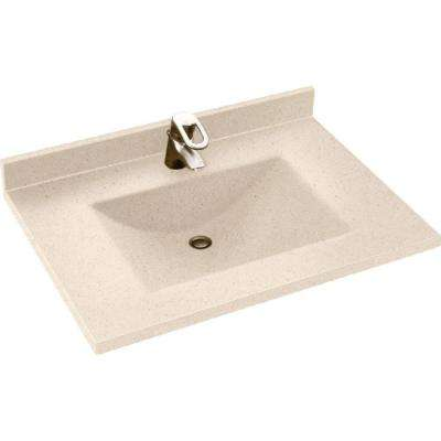 Contour 31 in. W x 22 in. D x 10-1/4 in. H Solid-Surface Vanity Top in Tahiti Sand with Tahiti Sand Basin